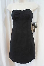 Kensie Dress Sz 4 Solid Black Strapless Short Cocktail Party Club Wear Dress