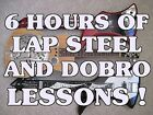6 Hours Of Dobro Resonator, Lap Steel Guitar Lessons On 1 Disc For Computer Play