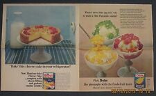 1965 Dole Pineapple,  Royal Cheese Cake full page color newspaper advertisements