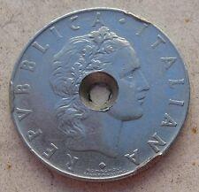 50 Lire Repubblica Italiana 1963 - LIRA BUCATA - n. 886