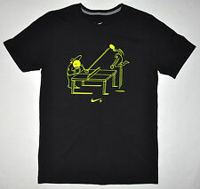 Nike Men's Black Reg Fit Ping Pong Table Tennis Funny Graphic T-shirt Sz S MINT