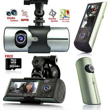 GPS Tracker Dash-Cam Dual Camera Driving Recorder Support Google Map ~Free 32GB~