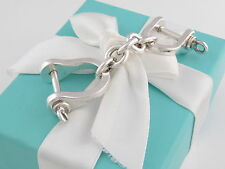 Tiffany & Co Silver Large Two Shackle Key Ring Keychain