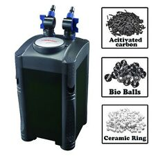 Jebao 4-stage Canister Filter Built-in Pump Self Priming + Bioball Ring Carbon