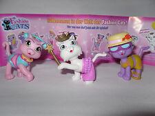 3 Fashion Cats * Serie 1 * Queen Scarlett (rar) , Chiqui , Tsa-Tsa * Katze *(e2)