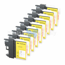9 YELLOW LC65 Ink Set for Brother MFC-5890CN MFC-5895CW MFC-6490CW MFC-6890CDW