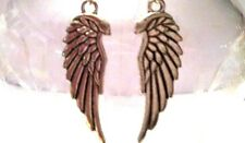 ANGEL WING dangle EARRINGS, silver plated french hooks, gift