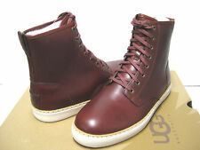 Ugg Braun Cordovan Leather Stout Men Boots US10.5/UK9.5/EU44