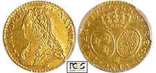 Louis XV (1715-1774) - ½ louis d'or aux lunettes - 1727 CC (Besançon)