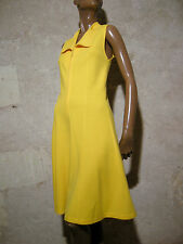 CHIC VINTAGE ROBE JERSEY 1960 VTG DRESS 60s MOD TWIGGY KLEID 60er ABITO (36/38)