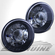 "7"" ROUND BLACK HOUSING DIAMOND CUT PROJECTOR HEADLIGHTS - MAZDA MIATA/MX5 90-98"