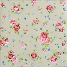 20 Pcs Luxury Table Paper Napkins Party Decoupage Decopatch Vintage Roses Taupe
