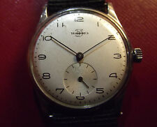 TAVANNES FINE MECHANICAL MILITARY WW2 ? - ALL S.STEEL - VINTAGE '40 - SWISS