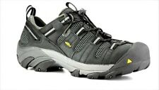 New KEEN Mens Black Leather Atlanta Cool Steele ToeSafety Slip On Shoes Size 11