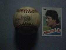 ERNIE  CAMACHO (Cleveland Indians) Signed  Official  A. L.  Baseball + 1985 Card
