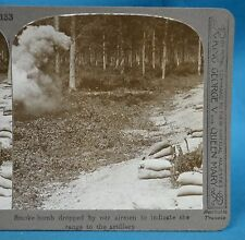 WW1 Stereoview Smoke Bomb Dropped By Airmen To Range Artillery Realistic Travels