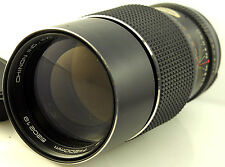 Chinon 200mm f3.5 Prime TELE LENS pentax M42 screw fit manual focus
