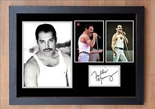 FREDDY MERCURY SIGNED / AUTOGRAPHED AND FRAMED PRINT