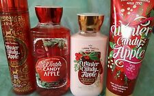 BATH AND BODY WORKS WINTER CANDY APPLE SHOWER GEL, MIST, BODY LOTION &  CREAM