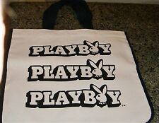 ORIGINAL VINTAGE PLAYBOY TOTE BEACH BAG FROM THE 1970'S