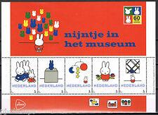 Nederland 3012 Postzegelvel Dick Bruna - Nijntje in het museum * Miffy