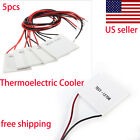 5x TEC1-12706 Thermoelectric Cooler Heat Sink Cooling Peltier Plate Module 6A US