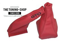 FITS MITSUBISHI 3000GT GTO 90-01 GEAR HANDBRAKE GAITER RED LEATHER EMBROIDERY