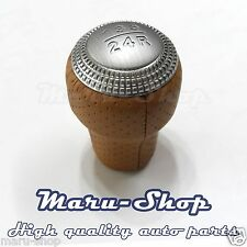 Beige Leather 5-Speed MT Gear Shift Knob Lever for 03~08 Hyundai Tiburon/Coupe