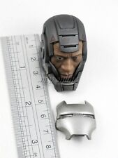 Hot Toys Iron Man 2 WAR MACHINE Figure 1/6 DON CHEADLE HEAD SCULPT with MASK