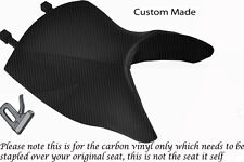 CARBON FIBRE VINYL CUSTOM FITS BMW R 1150 R FRONT HIGH SEAT COVER