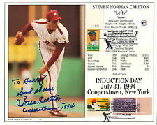 STEVE CARLTON 8x10 COOPERSTOWN PHILADELPHIA PHILLIES AUTOGRAPH SIGNED