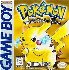 Pokemon Yellow Version Special Pikachu Edition Nintendo Game Boy 1999
