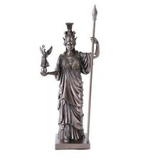 Greek Goddess Athena Sculpture Minerva Strategist Wisdom Figurine Statue Decor