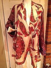 SOFT SURROUNDINGS Floral Embroidered Asymmetrical Drape Fringe Cardigan Wrap 2X