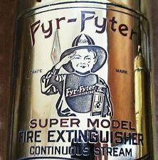 RARE 1-1/2 Qt. 1924 Antique Fyr-Fyter Hand Pump FIRE EXTINGUISHER Vintage Brass