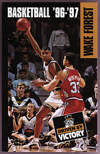 1996-97 WAKE FOREST DEMON DEACONS BASKETBALL POCKET SCHEDULE TIM DUNCAN ON COVER