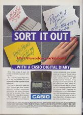 """Casio Digital Diary """"Sort It Out"""" 1995 Magazine Advert #901"""