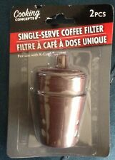 SINGLE-SERVE COFFEE FILTER for Keurig, Mr Coffee, Coffee Pods K Cups 2pc