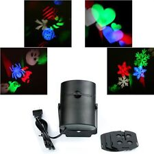 Multi-color Laser RGB Projection LED Light With 4PCS Switchable Pattern Lens EU