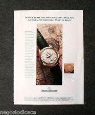 [GCG]  P505 - Advertising Pubblicità -1997- JAEGER LE COULTRE MASTER , 1000 ORE