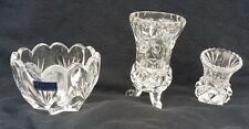 Lot of 4 Mixed Crystal VINTAGE UNIQUE BUD VASES HOME DECOR Marquis Waterford