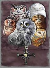 Owls  Wall Clock  Makes Great Gifts
