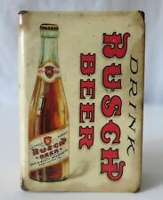 BUSCH BEER ANTIQUE MATCH BOX HOLDER, JOHN B. BUSCH BREWING CO. WASHINGTON, MO.
