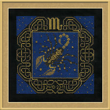 Zodiac Sign Scorpio Cross Stitch Kit - Riolis - (R1208) - 25cm x 25cm