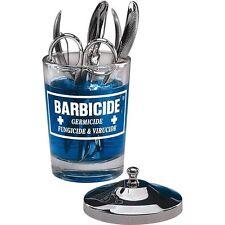 Barbicide Frasco De Vidrio Con Tapa De Acero Inoxidable Manicura herramientas de manicura cuadro Jarra Nuevo