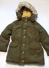 DENIM & SUPPLY RALPH LAUREN MEN'S GREEN SNORKEL COAT w FUR DETACHABLE HOOD SZ M