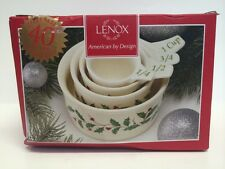Lenox Holiday Pattern ~  Measuring Cups Set of 4 ~ NIB