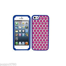 Juicy Couture Polka Dot Silicone Case Cover For iPhone 5 / 5S, Pink /White/ Blue
