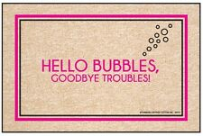 Hello Bubbles, Goodbye Troubles! Hilarious Champagne Doormat - 18 x 27 Gift