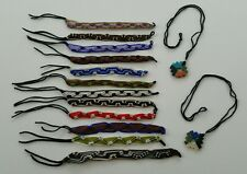 12 Handmade Peruvian Friendship Bracelets and 2 Stone Necklaces Made in Peru